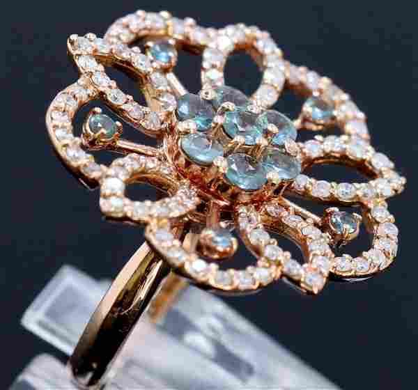 1.19ct NATURAL Alexandrite 14K Rose Gold Ring