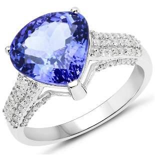 4.49ct Tanzanite 14K White Gold Ring