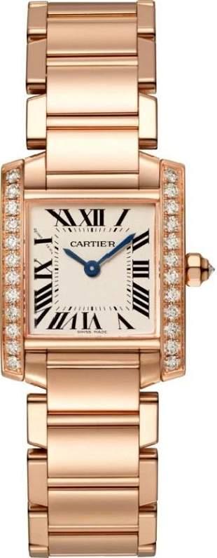 Cartier RG Tank Francaise Small With Diamond Bezel