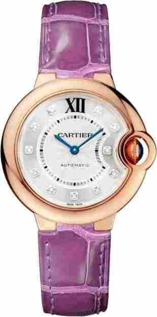 Cartier 33MM BB RG with Diamond Dial Model# WE902063