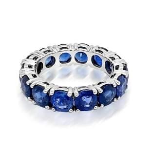 7.75ct Natural Ceylon Blue Sapphire 14K White Gold Ring