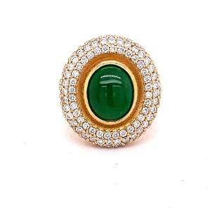 GIA 3.07ct Type A Imperial Jadeite Jade 18K Rose /