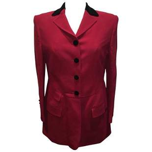 Moschino Couture Vintage Black and Red Women's Blazer