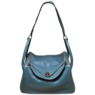 Hermes Blue Jean Swift Leather 30cm Lindy Bag