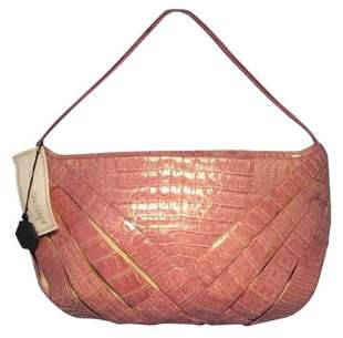Nancy Gonzalez Pink Crocodile Handbag