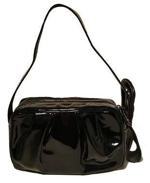 Fendi Borsa Mini B Black Patent Leather Handbag