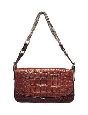 Miu Miu Brown Hornback Crocodile Shoulder Bag