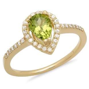 0.76ct Peridot 14 K Yellow Gold Ring