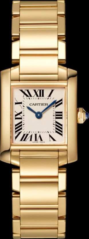 Cartier YG Small Tank Francaise Model #WGTA0031
