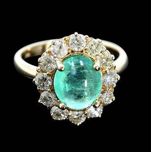 2.69ct Natural Emerald 14K Yellow Gold Ring