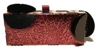 Tanya Hawkes Copper Leather Cow Print Snakeskin Metal