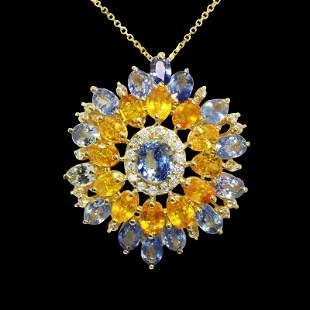 8.75ct NATURAL CEYLON Blue Sapphire / 7.34ct NATURAL