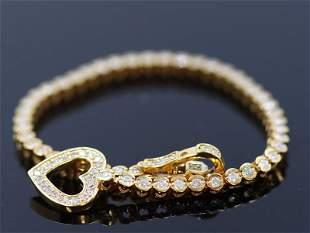 1.71ct Diamond 14K Yellow Gold Bracelet