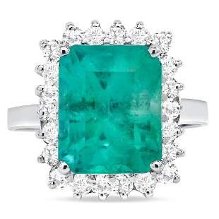4.8ct Colombian Emerald & Diamond Ring