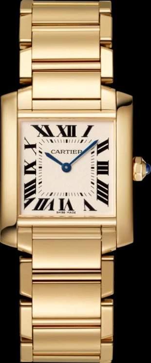 Cartier YG Midsize Tank Francaise Model #WGTA0032