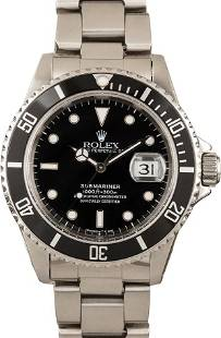 Pre-owned Rolex Submariner 16610