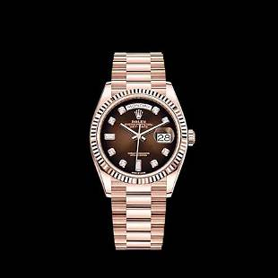 Rolex New 36MM Day Date RG Model #128235