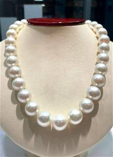 12.25-14.5mm south sea pearls 14white gold clasp 18inch