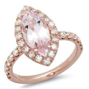 2.05ct Morganite 14 K Rose Gold Ring