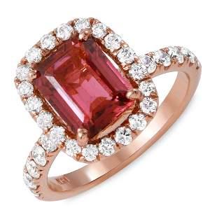 2.11ct Pink Tourmaline 14 K Rose Gold Ring