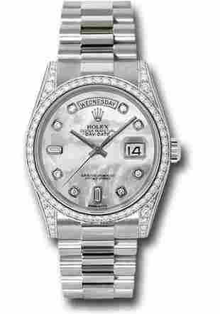 Rolex Model # 118389 Rolex Day Date WG with Diamond