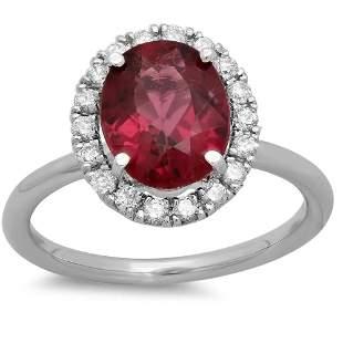 2.24ct Pink Tourmaline 14 K White Gold Ring