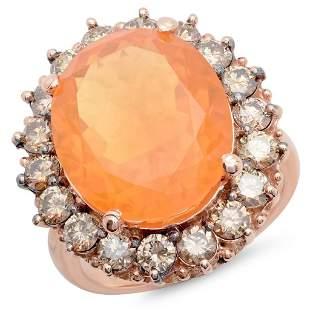 8.53ct Opal 14 K Rose Gold Ring