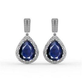 GIA 11.30 and 11.53ct Burma Blue Sapphire 18K White