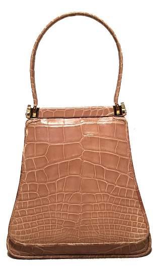 Judith Leiber Vintage Tan Alligator Mini Evening Bag