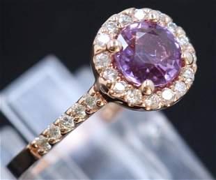 1.29ct Pink Tourmaline 14K Rose Gold Ring