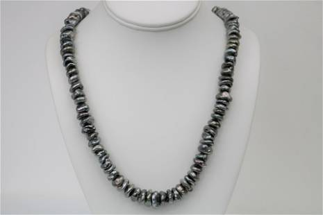 10mm Tahitian Keshi Necklace with Gold Clasp