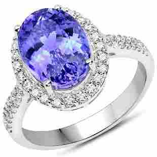 4.86ct Tanzanite 14K White Gold Ring