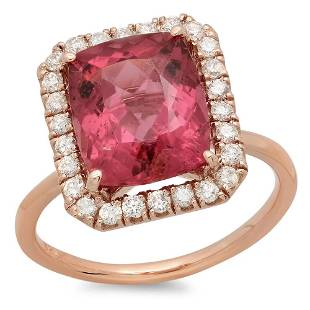 4.31ct Pink Tourmaline 14 K Rose Gold Ring
