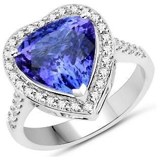 4.2ct Tanzanite 14K White Gold Ring