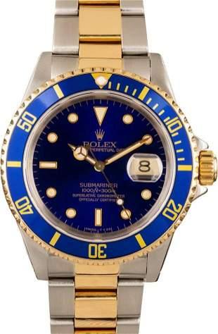 Pre-owned Rolex Submariner 16613LB