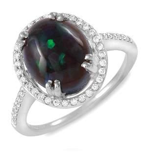 2.15ct Opal 14 K White Gold Ring