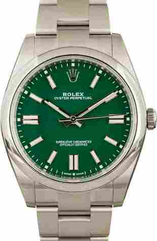 Pre-owned Rolex Oyster Perpetual 41 - 124300
