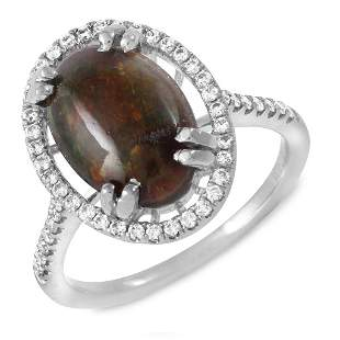1.81ct Opal 14 K White Gold Ring