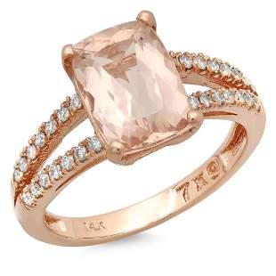 2.27ct Morganite 14 K Rose Gold Ring