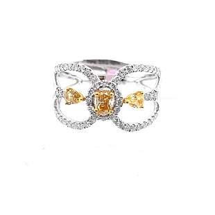 0.37ct Fancy Diamond 18K White Gold Ring