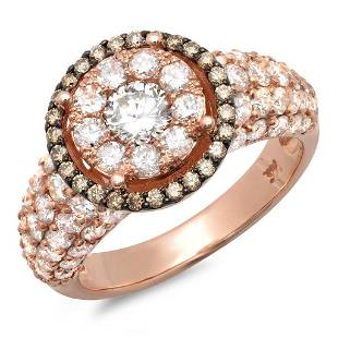 0.44ct Champagne 14 K Rose Gold Ring