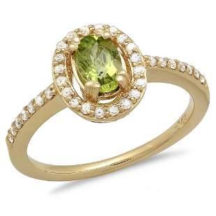 0.63ct Peridot 14 K Yellow Gold Ring