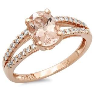 1.11ct Morganite 14 K Rose Gold Ring