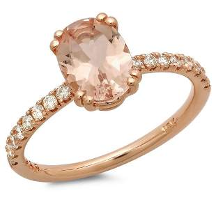 1.17ct Morganite 14 K Rose Gold Ring