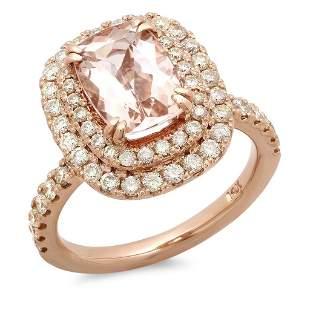 2.13ct Morganite 14 K Rose Gold Ring
