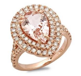 2.55ct Morganite 14 K Rose Gold Ring