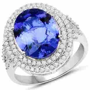 4.89ct Tanzanite 14K White Gold Ring