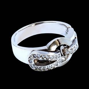 0.30CT NATURAL DIAMOND 14K WHITE GOLD RING