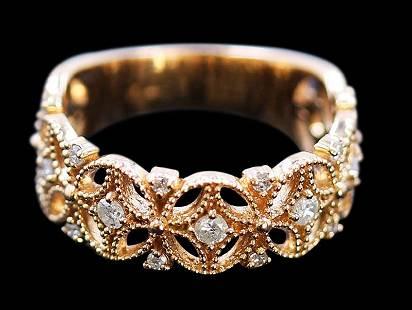 0.35ct Diamond 14K Rose Gold Ring