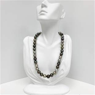 11-12mm Tahitian Multicolor Near-Round Pearl Necklace